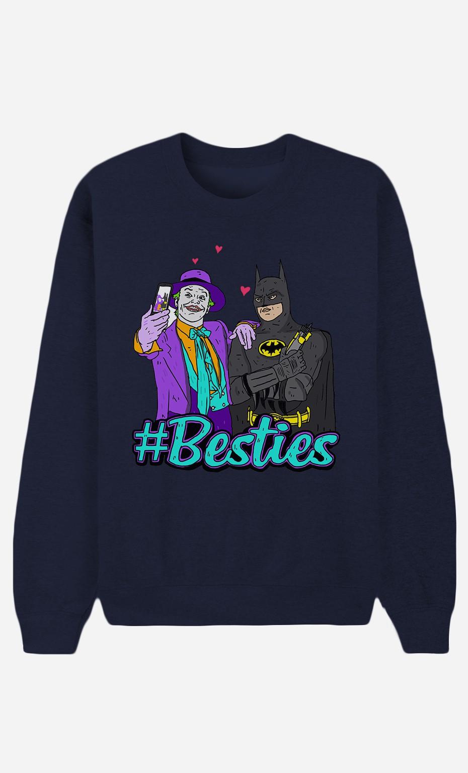 Sweat Bleu Joker & Batman
