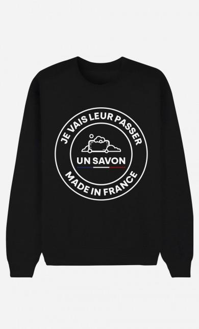 Sweat Noir Je Vais Leur Passer Un Savon Made In France