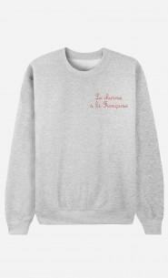Sweat Femme Le Charme A La Française - Brodé