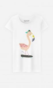 T-Shirt Femme Flamingo Skater