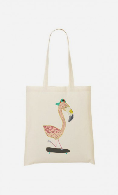 Tote Bag Flamingo Skater