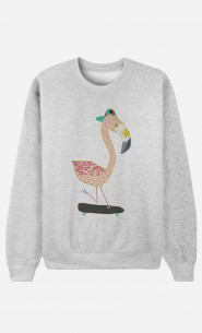 Sweat Femme Flamingo Skater