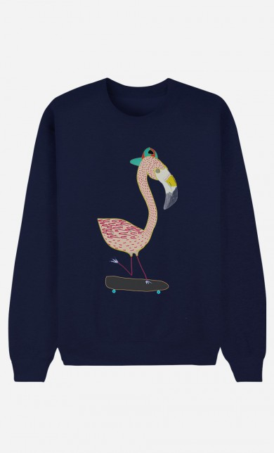 Sweat Bleu Flamingo Skater