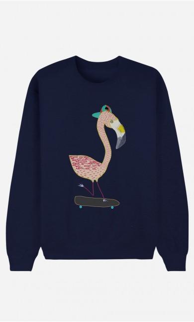 Sweat Bleu Flamingo Skater