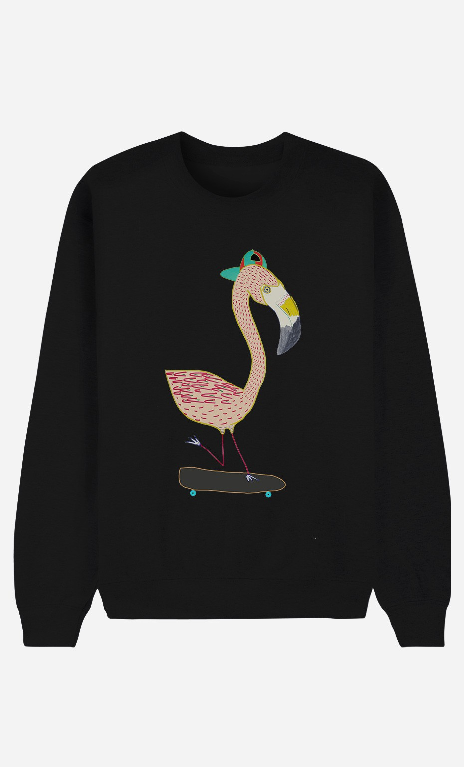 Sweat Noir Flamingo Skater