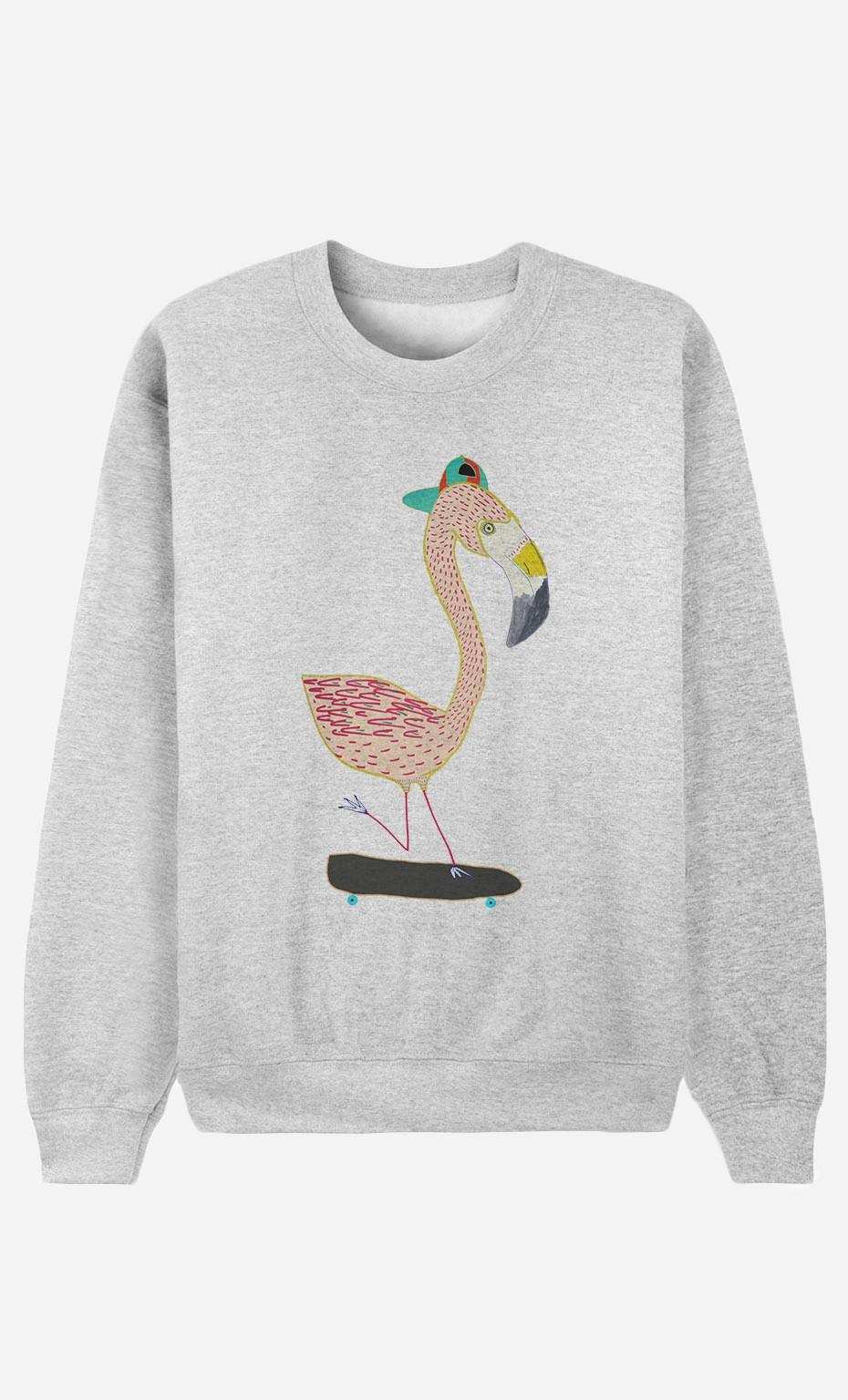 Sweat Homme Flamingo Skater