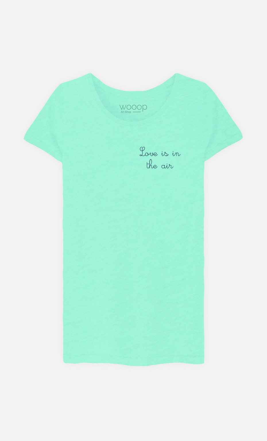 T-Shirt Love is in The Air - Brodé