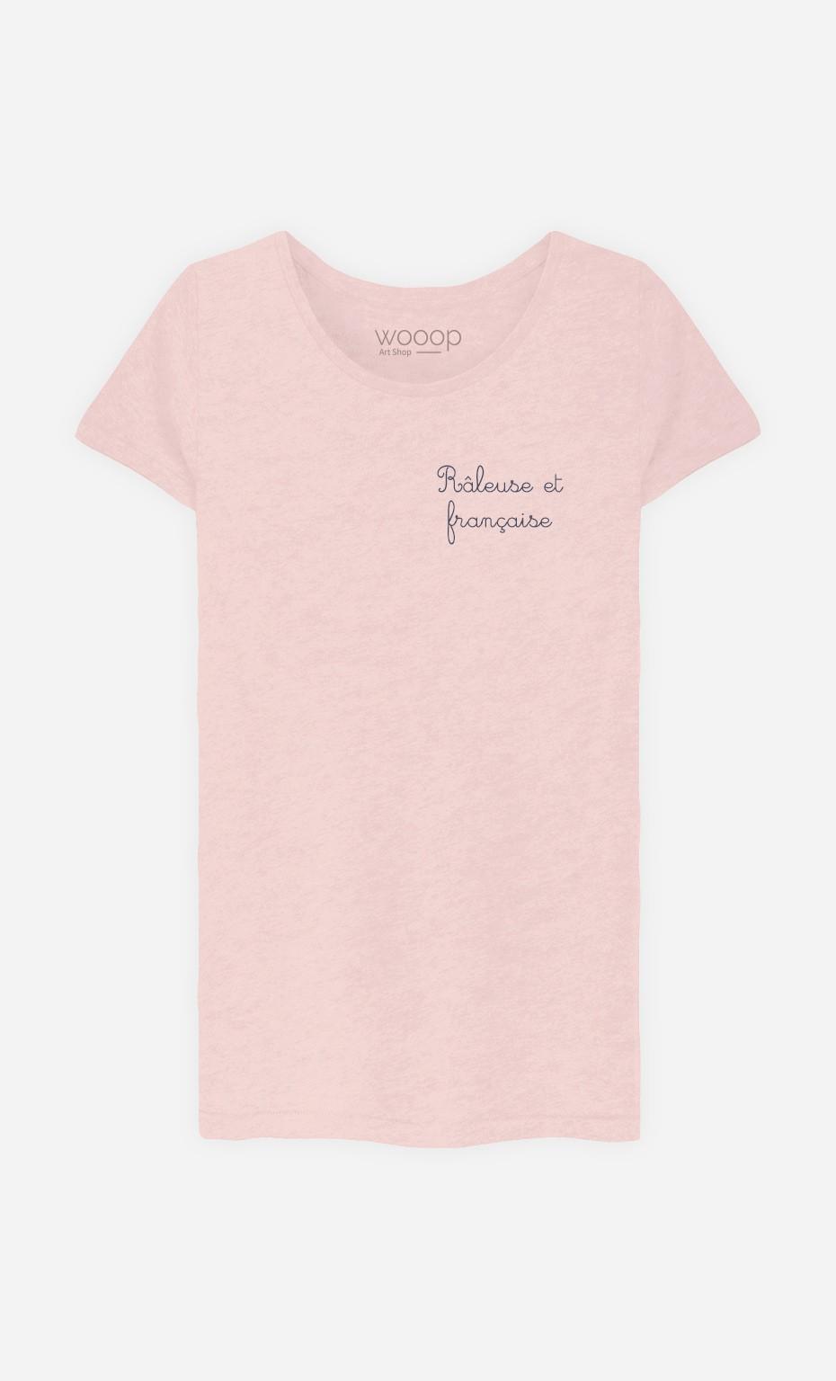 T-Shirt Femme Râleuse et Française - Brodé