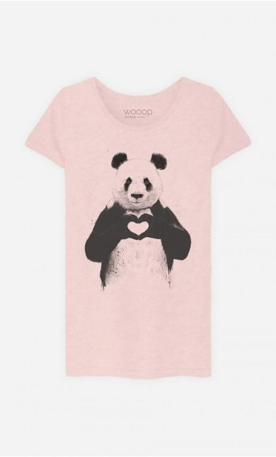 T-Shirt Femme Love Panda