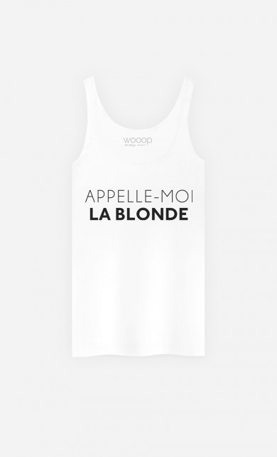 Débardeur Appelle-Moi La Blonde