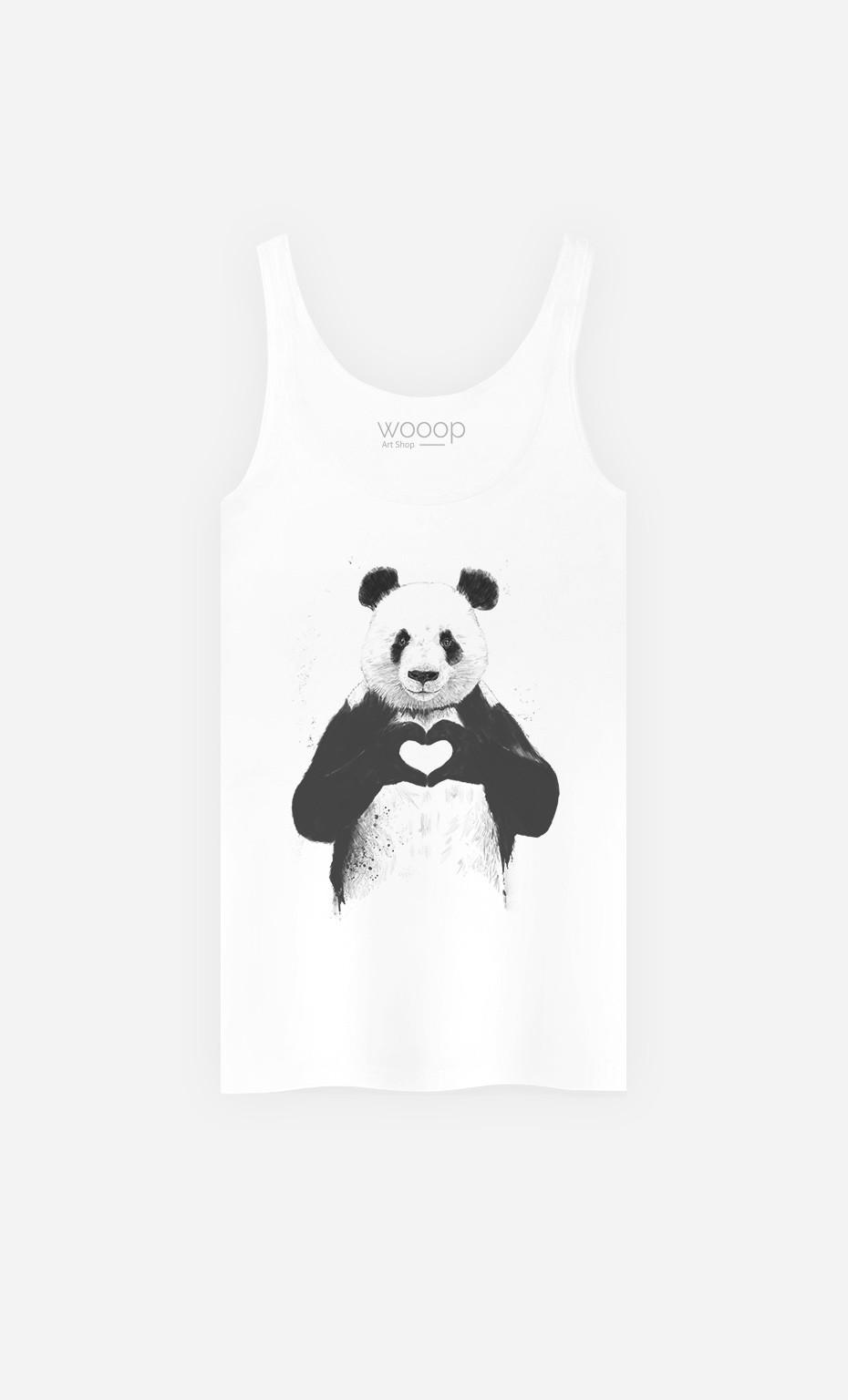 Débardeur Femme Love Panda
