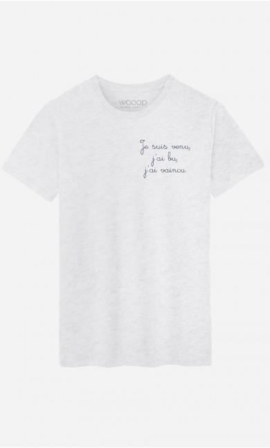 T-Shirt Homme Je Suis Venu - Brodé