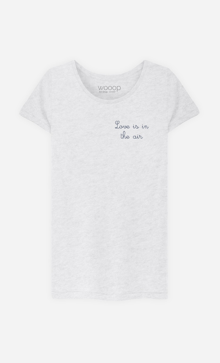T-Shirt Femme Love is in The Air - Brodé