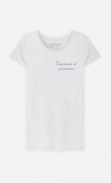 T-Shirt Impatiente et Parisienne - Brodé