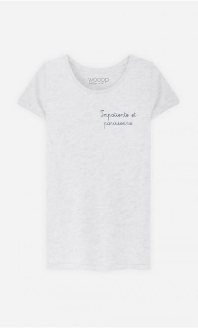 T-Shirt Femme Impatiente et Parisienne - Brodé