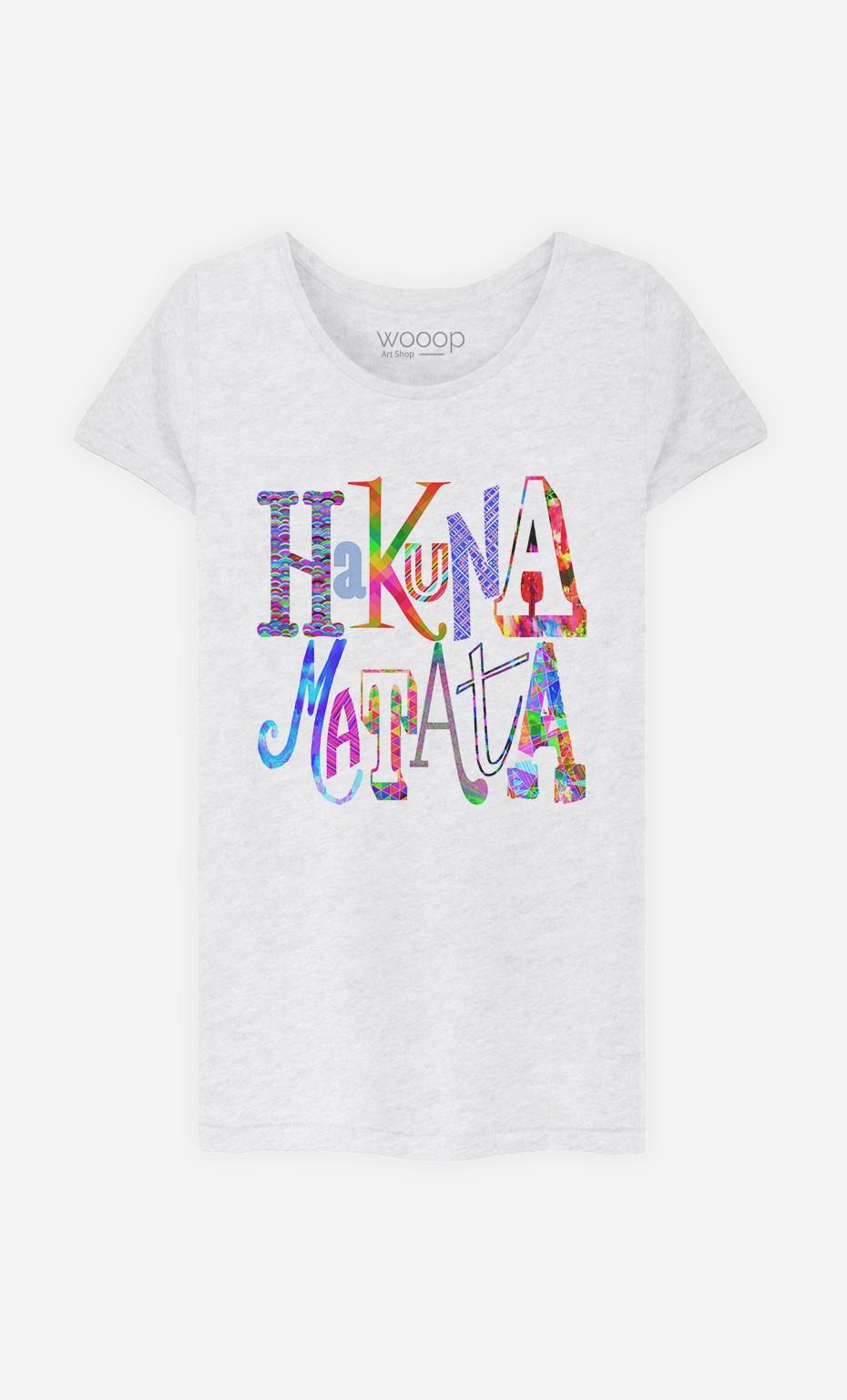 T-Shirt Femme Hakuna Matata Color