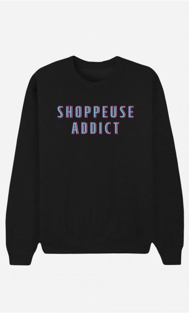 Sweat Noir Shoppeuse Addict