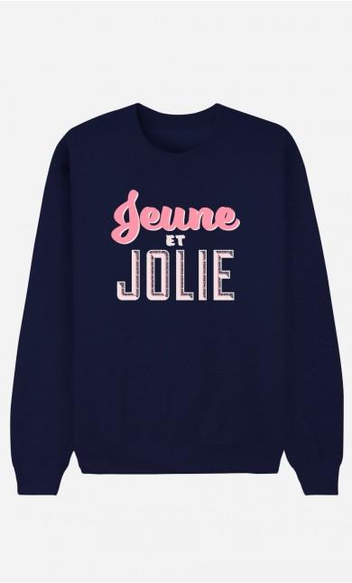 Sweat Bleu Jeune et Jolie