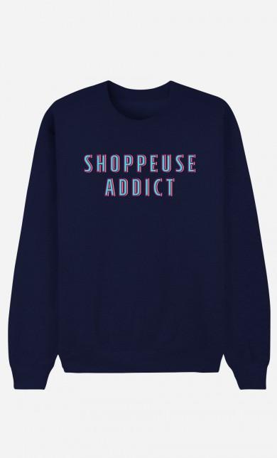 Sweat Bleu Shoppeuse Addict