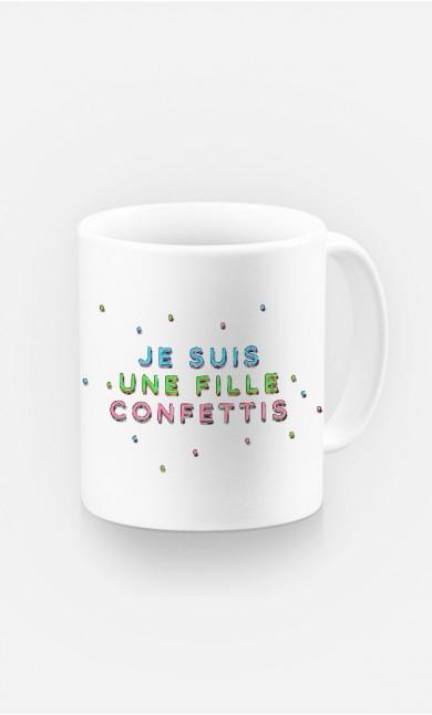 Mug Je Suis une Fille Confettis