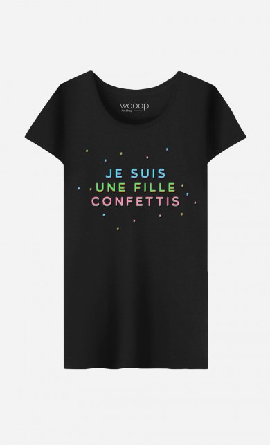 T-Shirt Je Suis une Fille Confettis