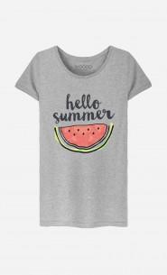 T-Shirt Femme Hello Summer