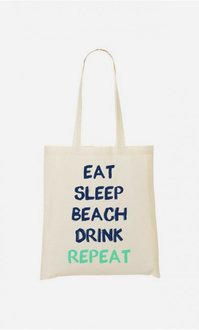 Tote Bag Eat Sleep Beach Drink Repeat