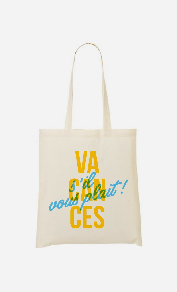 Tote Bag Vacances S'il Vous Plait