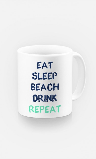 Mug Eat Sleep Beach Drink Repeat