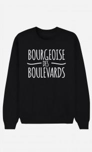 Sweat Noir Bourgeoise des Boulevards