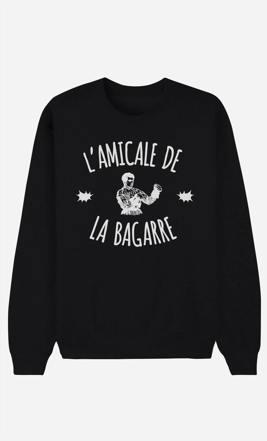 Sweat Noir L'Amicale de la Bagarre