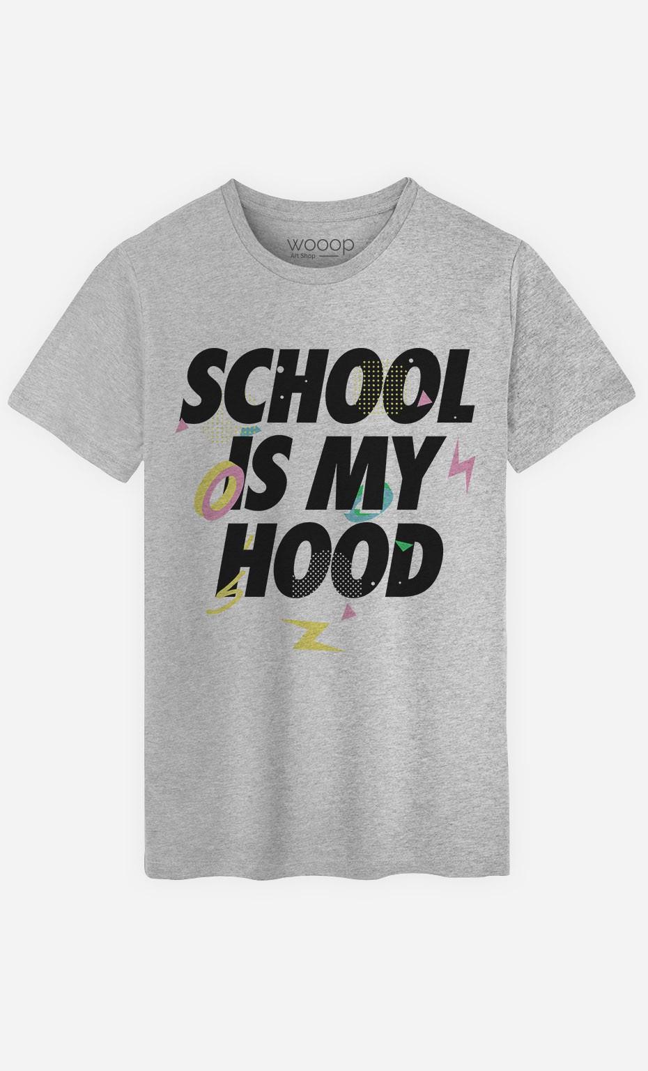 T-Shirt Homme School is my Hood