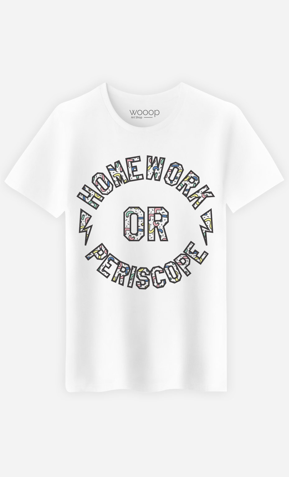 T-Shirt Homme Homework or Periscope