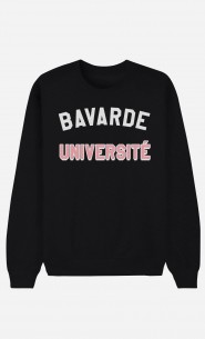 Sweat Noir Bavarde Université