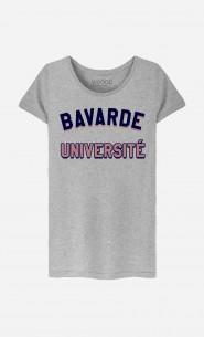 T-Shirt Femme Bavarde Université