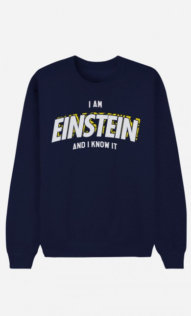 Blue Sweater I Am Einstein And I Know It