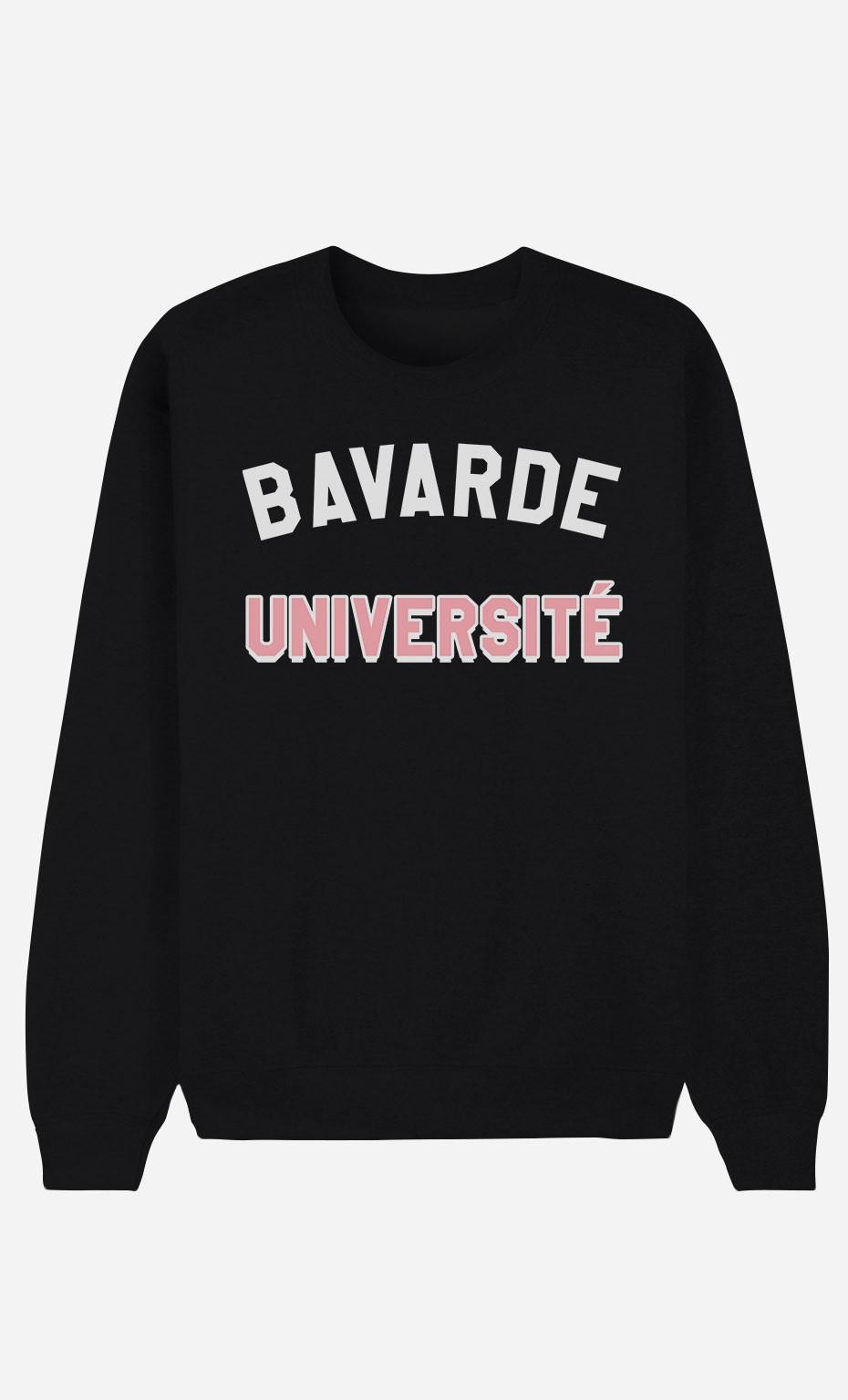 Sweat Noir Bavarde Université