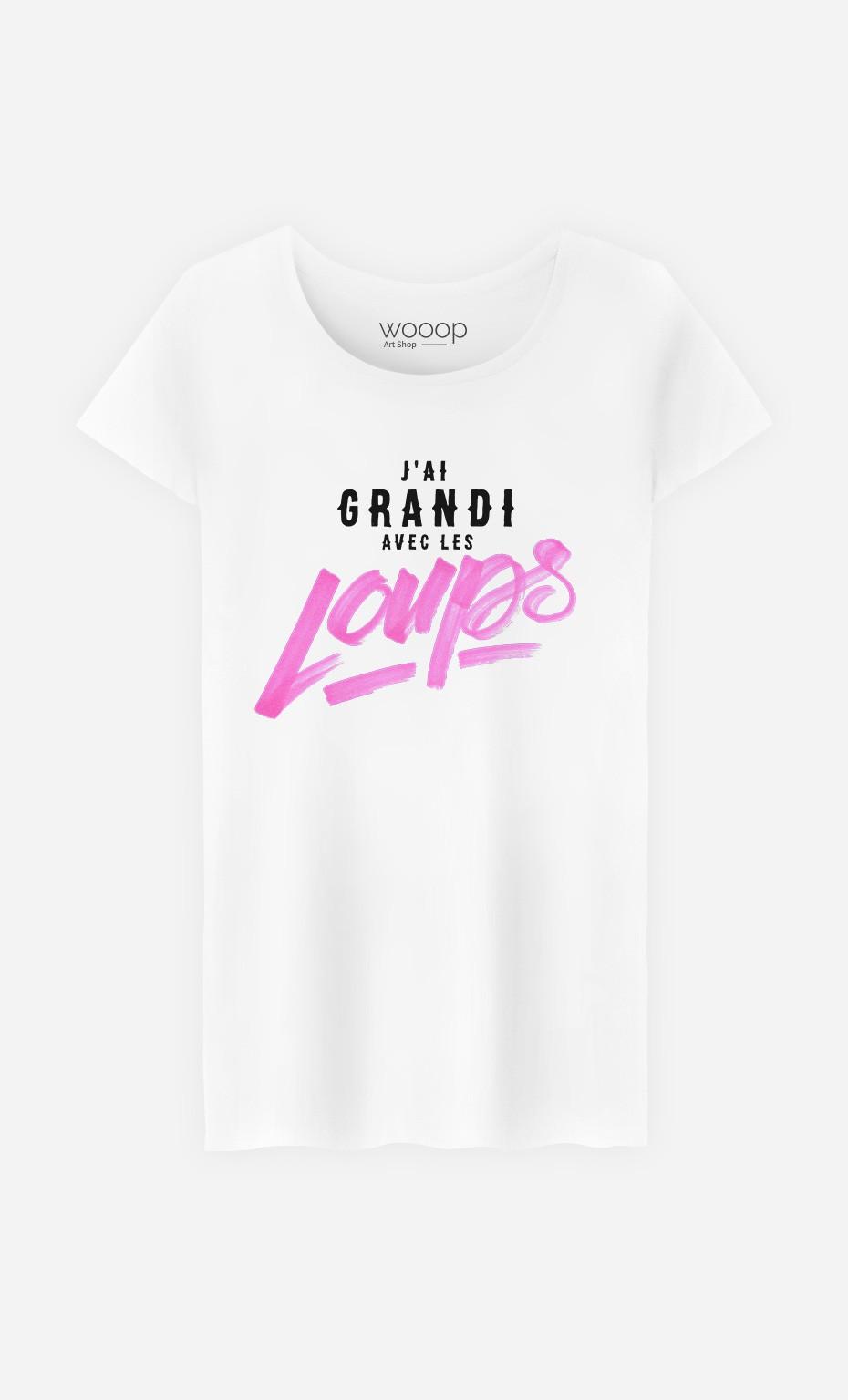 T-Shirt Femme J'ai Grandi Avec les Loups