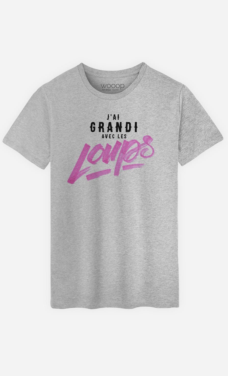 T-Shirt J'ai Grandi Avec les Loups