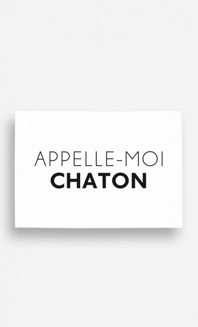 Poster Appelle-Moi Chaton