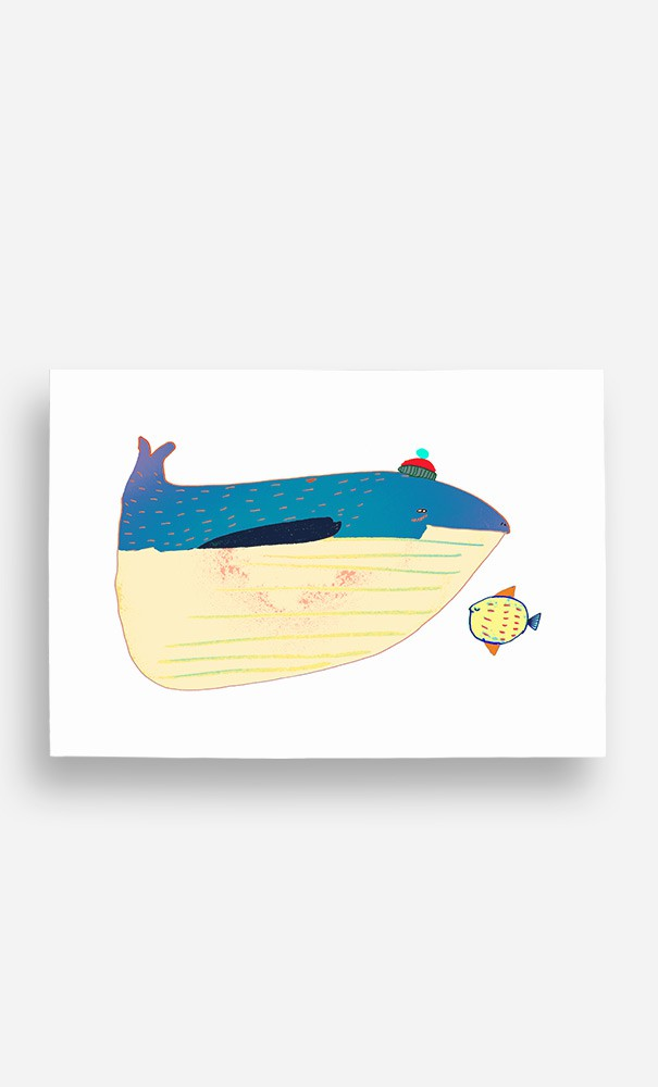 Poster Whale and Fish
