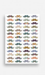 Poster Moustache Mania