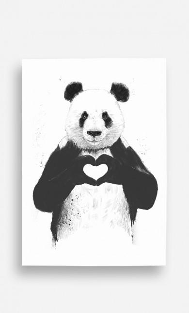Poster Love Panda