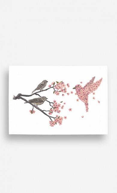 Poster Blossom Bird