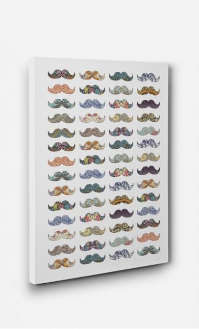 Toile Moustache Mania