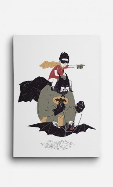 Toile Batman et Robin