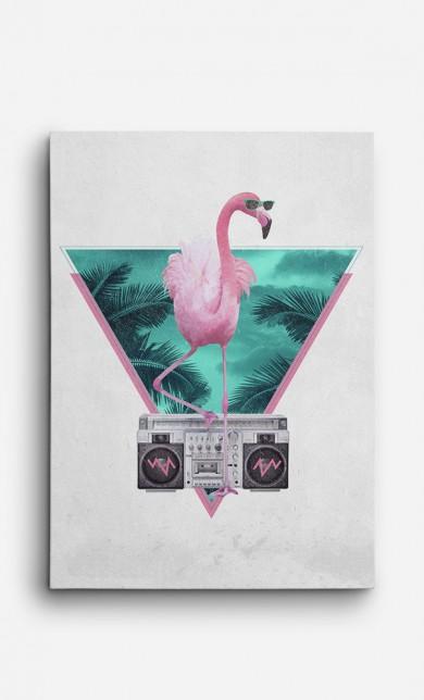 Toile Flamingo