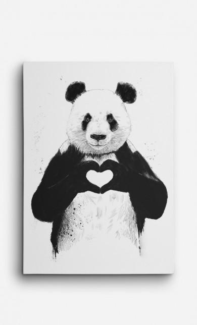 Toile Love Panda