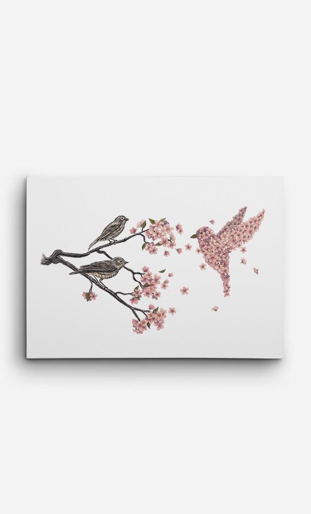 Toile Blossom Bird