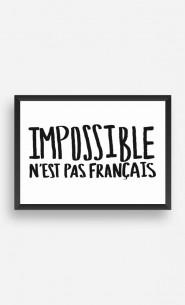 Cadre Impossible N'est Pas Français